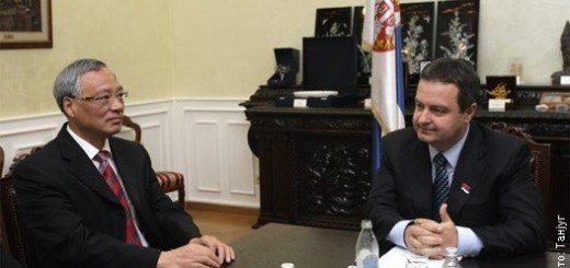 Ambasador Kine Džang i  Ministar spoljnih poslova Ivica Dačić