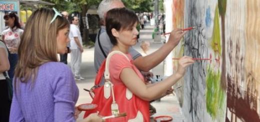 Prokuplje: Oslikavali platno dužine 20 metara
