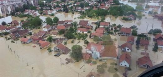 Obrenovac za vreme majskih poplava (Foto: MUP Srbije)