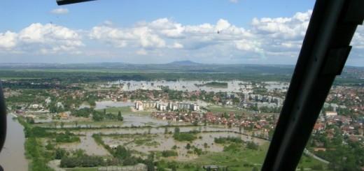 Obrenovac iz vazduha, Foto: MUP
