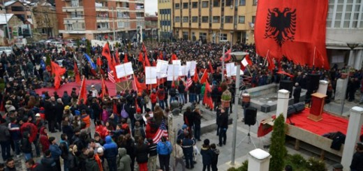 Protesti Albanaca u Medveđi (foto: Tanjug)